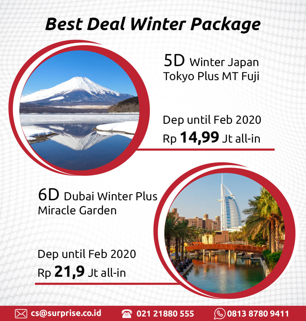 Surprise best deal winter package banner mobile