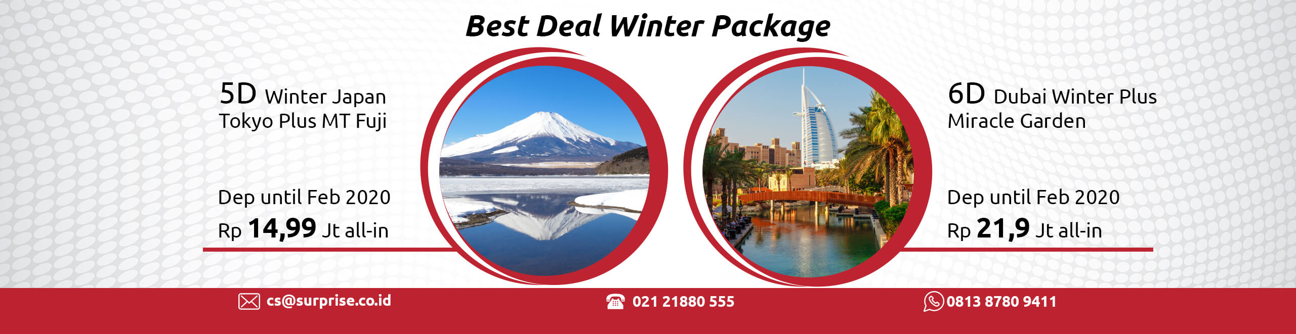 Surprise best deal winter package banner